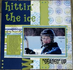 Scraplifted!  I like this, need more ways to scrapbook ice hockey but really can be any sport.