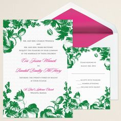 Vintage Garden Wedding Invitation (available in other colors)   #exclusivelyweddings   #greenwedding