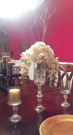 Need advice! Mock centerpiece.  Do you all like it? :  wedding diy reception 20140302 193347 1