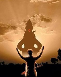 There is no end to my divine power and opulence. Lord Ganesha Paintings, Ganesha Art, Krishna Painting, Krishna Statue, Krishna Art, Shiva Art, God Pictures, Nature Pictures, Red Background Images