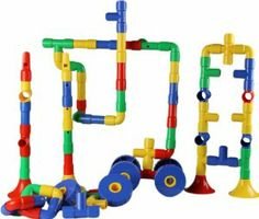 Tubation & pipe connectors 170 pcs with wheels and music parts with FREE plastic container (view all photos) by Wonder toys. Save 8 Off!. $54.99. Let your child's imagination start working with the Most amazing MANIPULATIVE for kids all ages. Made of the highest quality & Safety tested for lead free.. Create and construct the most amazing cars tanks saxophone animals buildings ETC.. 170 total pcs. 144 pipes 16 wheels & 10 music parts with idea page inclu.. Hours and hours of fun, Great...