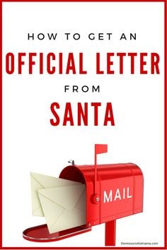 Learn how to write a letter to Santa so that your child receives a response this Christmas                                                                                                                                                                                 More
