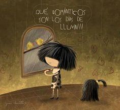 Que románticos son los días de lluvia