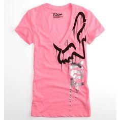 Fox Tees - Womens - Fox Cavernous V-Neck T-Shirt found on Polyvore