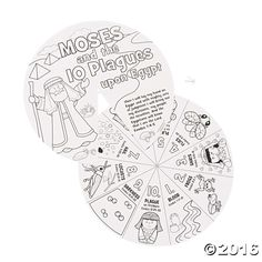 Teaching the story of Moses and the 10 plagues can be a challenge, but this Color Your Own Wheel makes it easy. Children can color the wheels and the ...
