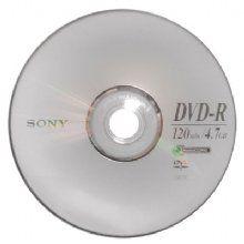 Dvd-r 4,7gb 16x 120min Sony - Valor unitário de R$ 0,84 para pacote com 100 unidades