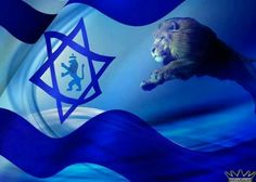 BEAUTIFUL ISRAEL FLAG WITH LION OF JUDAH!!!