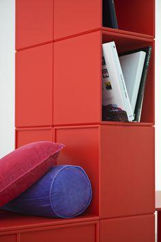 Red detail. #montana #furniture #danish #design #interior #inspiration #storage #indretning #inredning #red #rouge