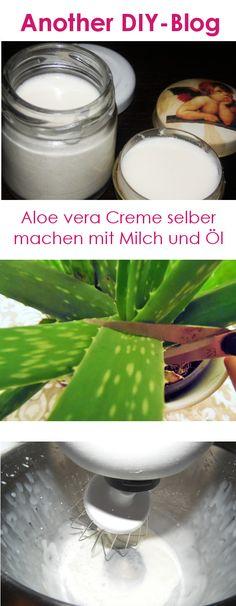 Aloe vera scheint ein echter Tausendsassa unter den Pflanzen zu sein. Ihr werden eine Reihe positiver Wirkungen von Sonnen – über Wundheilung bis hin zur Abwehrstärkung nachgesagt. In der Kosmetik kommt sie daher auch immer öfter zum Einsatz. Wer eine Aloe vera Pflanze daheim hat, kann diese auch einfach mittels Milch und Öl selbst zu einer Creme verarbeiten. Die Aloe vera Creme in leere Creme-Tiegel geben und im Kühlschrank aufbewahren und innerhalb einiger Wochen aufbrauchen