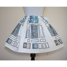 r2 d2 Star Wars Skirt for Gals All Sizes ($50) ❤ liked on Polyvore featuring black and women's clothing