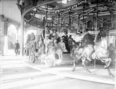 Old Carousel Ride at Riverview Park in Chicago