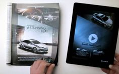 Lexus stunning feat    A Lexus 2013 ES changes colors, turns on its headlights and exposes its interior as throbbing music plays in this highly interactive print ad in the Oct. 15 Sports Illustrated.     How is thi