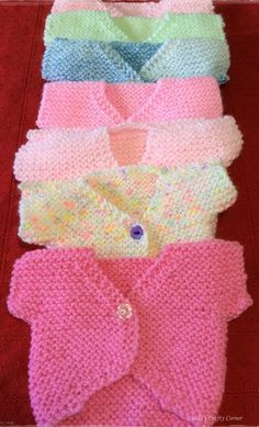 Sweet Little Tops Free Knitting Pattern.