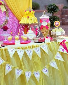 BEAUTY and the Beast Inspired Happy Birthday Banner - BELLE Party - Girl Birthday - Disney Princess - Shower - ladies - INSTANT Download