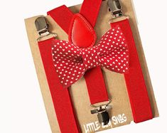 Valentines Day style with this boys bow tie and suspenders  by LittleBoySwag