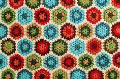 Colorburst Granny Hexagon