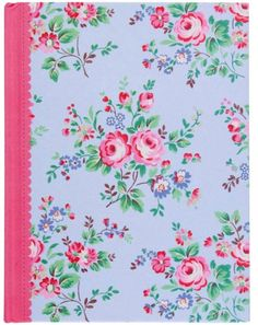 This A5 Cath Kidston Chelsea Rose notebook would make an ideal gift for Cath Kidston fans. The pretty fabric covering gives it a luxurious feel and would be a joy to use as a journal.<p /> Inside contains quality ruled pages each with a Cath Kidston design border and flower motif. This sturdy casebound notebook could also be used for everyday notes and would fit easily in a bag.