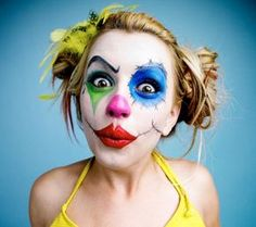 Theaterschminke zum Clown schminken-ideen für Halloween oder Fasching-kostüme