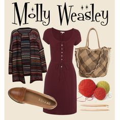 """Channeling Molly Weasley"" by queergryffindor on Polyvore"