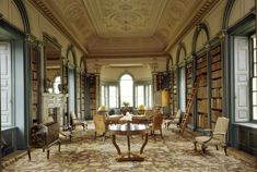 The Library at Wimpole Hall in Wimpole, Cambridgeshire, England