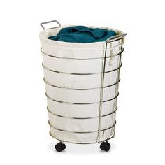 Chrome Wire Rolling Hamper, $24.99, now featured on Fab.