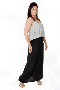 crop top attached gown