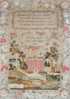 A George III embroidery sampler