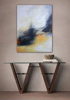 Buy Inner spirit - abstract painting yellow , black and gray, Acrylic painting by Andrada Anghel on Artfinder. Discover thousands of other original paintings, prints, sculptures and photography from independent artists.