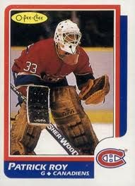 """O-Pee-Chee # 53 Patrick Roy (Montreal Canadiens) """"Novelty"""" Rookie Card! Montreal Canadiens, Hockey Cards, Baseball Cards, Patrick Roy, Saint Patrick, Nhl Entry Draft, Goalie Mask, Canada, Hockey Players"""