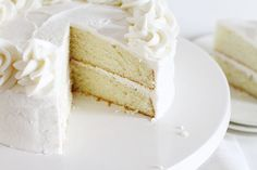 Perfect White Cake Perfect White Cake Recipe, White Cakes, Panes, No Bake Cake, Cake Icing, Cupcake Frosting, Eat Cake, Cupcake Cakes, Brownies