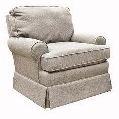 OBSESSED with this glider for the nursery!!! GREY TWEED!!!! Quinn Swivel Glider in Mist | Nebraska Furniture Mart