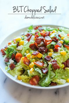 BLT Chopped Salad - All the goodness of a BLT in a healthy, salad form with a refreshing lime vinaigrette!