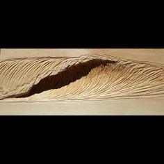 Just wood. #wave  #barrel #surfart #woodcarving #waterandlightproject #NathanLedyardArt