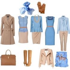 Quartz Blue and Camel - Fall by create1 on Polyvore featuring мода…