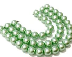 8mm Mint Glass Pearl Beads, Green Glass Beads, Pastel Pearls, Easter Jewelry Supplies, Beads for jewelry making, Beads for Crafting by vickysjewelrysupply. Explore more products on http://vickysjewelrysupply.etsy.com