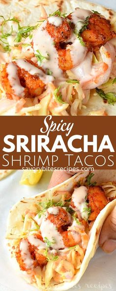 Try this amazingdeliciouseasy and best spicy sriracha shrimp tacos recipewhich can fix lunch/dinner under 30 mins with cilantro lime slaw and creamy sriracha sauce makes these shrimp tacos the best. Crispy Shrimp Taco Recipe, Shrimp Taco Sauce, Spicy Shrimp Tacos, Shrimp Taco Recipes, Grilled Shrimp, Creamy Tacos Recipe, Siracha Shrimp, Sriracha Recipes, Garlic Shrimp