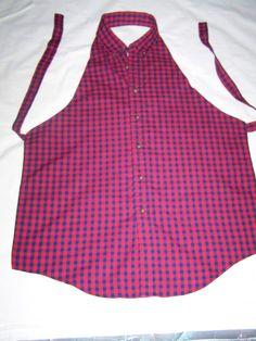 Items similar to Upcycled Men's Shirt Apron on Etsy