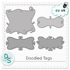 Doodled Tag Templates