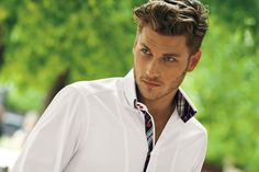 Philippe Leblond   usually not a fan of male models, but he has a nice face.