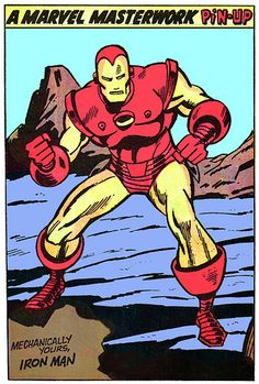 Marvel pin-ups was that extra umf! Marvel didn't need them.but they were awesome litte gifts for us fans anyway Marvel Comics Superheroes, Marvel Art, Marvel Heroes, Comic Book Artists, Comic Books Art, Comic Art, Marvel Masterworks, Iron Man Art, Man Thing Marvel