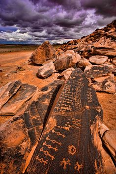 Hopi Rock Art Petroglyphs on Navajo Reservation in Arizona by Tom Till photography