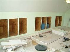knee wall storage, construction images