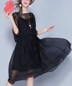 Vicky and Lucas Black Silk Fit & Flare Dress Set Lucas Black, Black Slacks, Dress Set, Every Girl, Black Silk, Fit Flare Dress, Love Fashion, Designer Dresses, Ideias Fashion