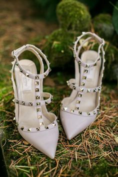 Valentino Rockstud Shoes - Lifestories Wedding | Outdoor French Wedding