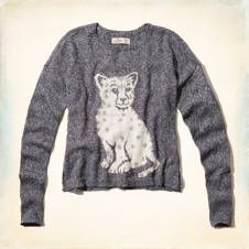 Pull motif léopard des neiges intarsia