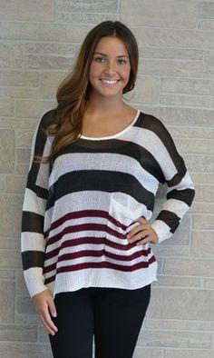 Sheer Fall Sweater, $49.00