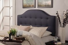 $250.00 Full/Queen Upholstered Headboard by Coaster - Home Gallery Stores