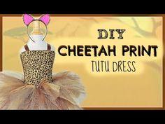 Animal Print Tutu DIY - Cheetah - YouTube