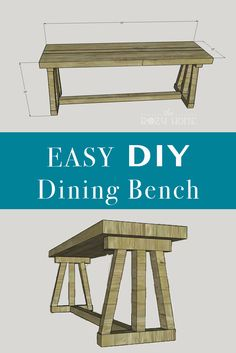 Build a Dining Bench with free plans from The Rozy Home. Perfect bench for the beginner or pro. Build your own dining bench in a day!