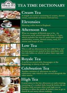 LISMARY'S COTTAGE: Description of different teas, e.g. Afternoon Tea, High Tea